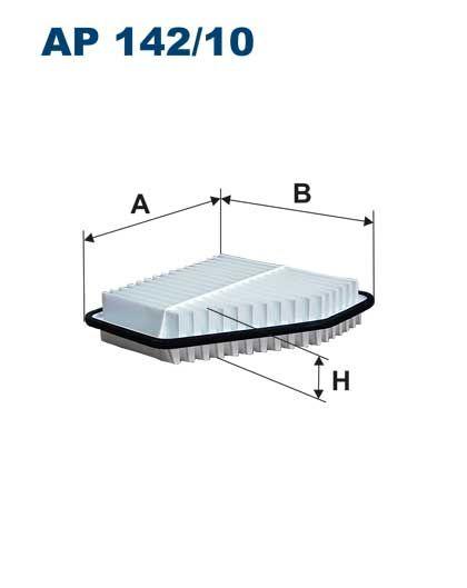 Vzduchový filtr Filtron AP 142/10