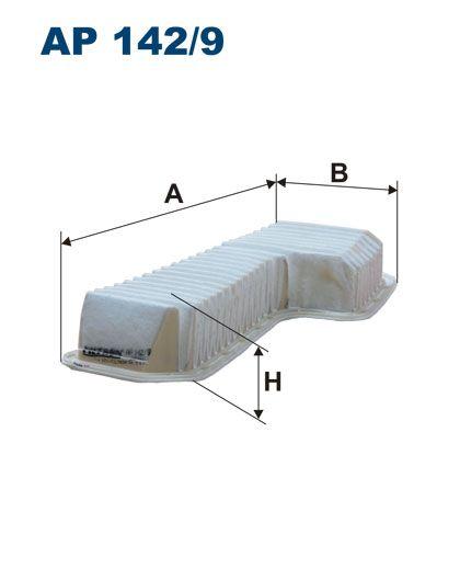 Vzduchový filtr Filtron AP 142/9