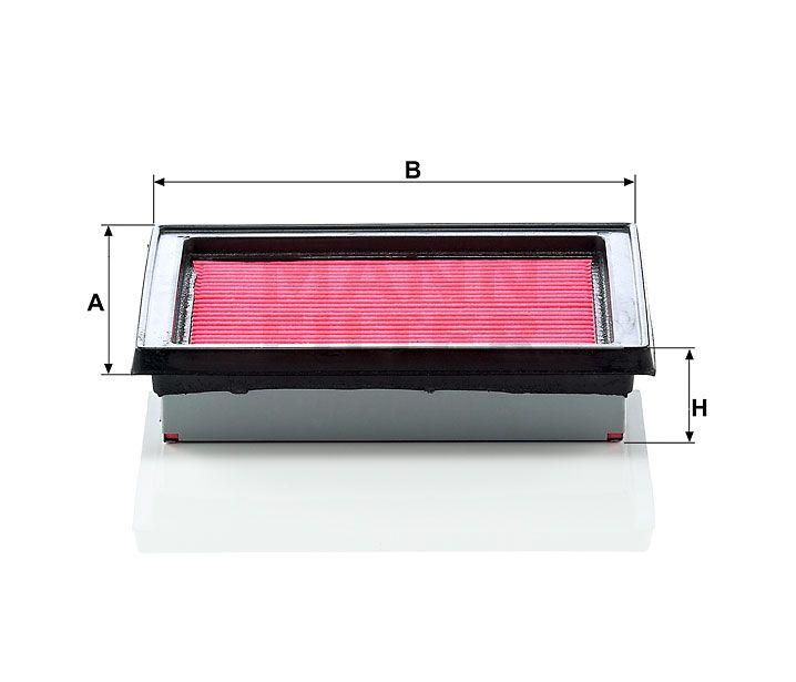 Vzduchový filtr Mann-Filter C 1618