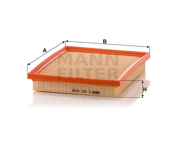 Vzduchový filtr Mann-Filter C 22 009