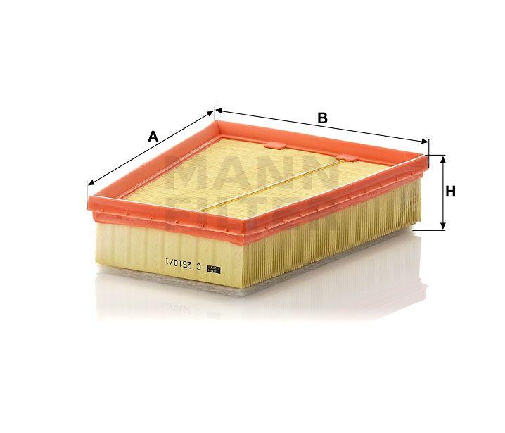 Vzduchový filtr Mann-Filter C 2510/1