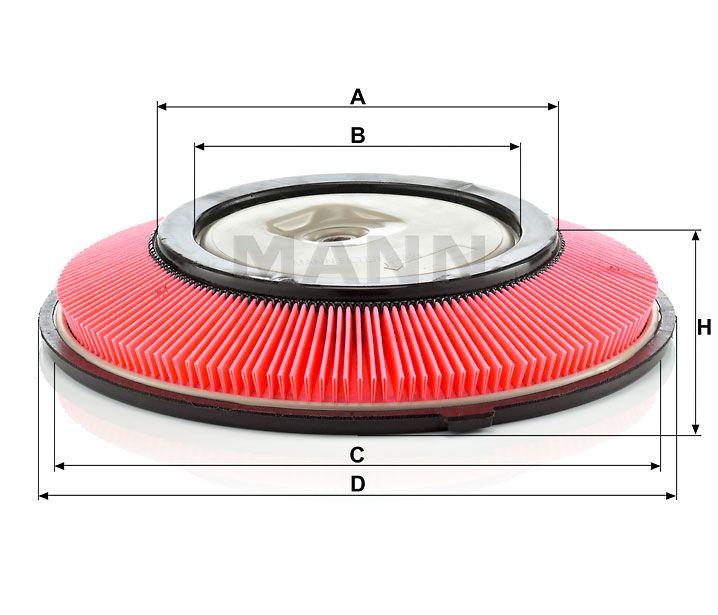 Vzduchový filtr Mann-Filter C 2821