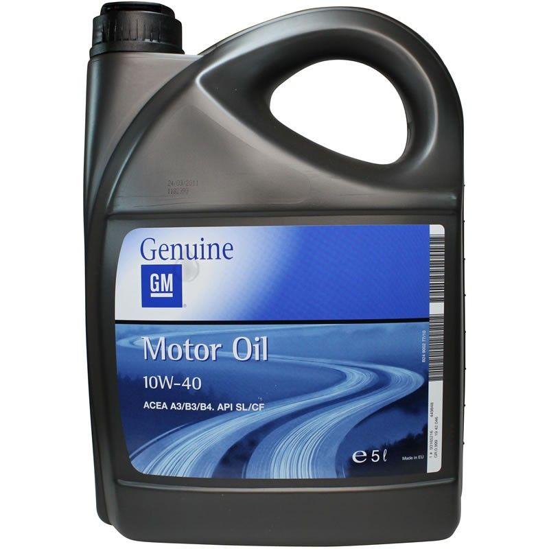 GM MOTOR OIL 10W-40 5L Generals Motors