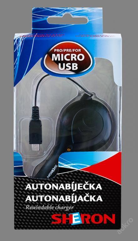 SHERON Autonabíječka MICRO USB 12/24V
