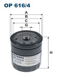 Olejový filtr Filtron OP 616/4